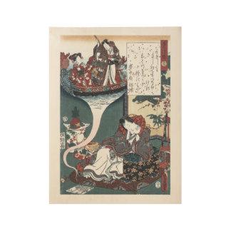 Japanese Ukiyo-e The Bridge of Dreams, Genji Wood Poster