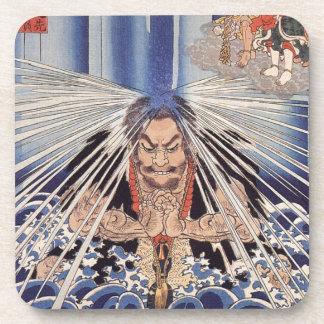 Japanese ukiyoe art coaster