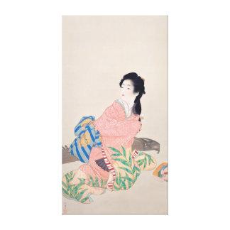 Japanese Ukiyoe Art(Shouen Uemura) Canvas Print