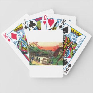 Japanese Village Bicycle Playing Cards