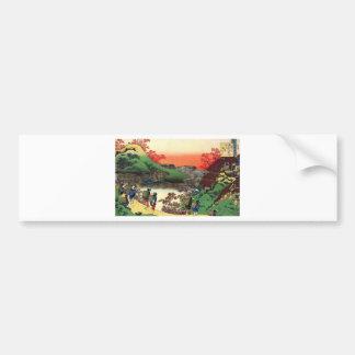 Japanese Village Bumper Sticker