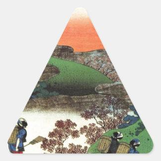 Japanese Village Triangle Sticker