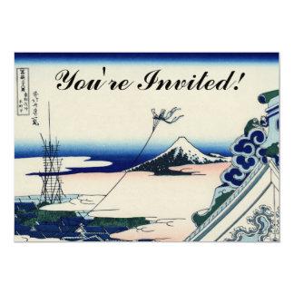 Japanese Vintage Art Fuji from Honganji Temple Card