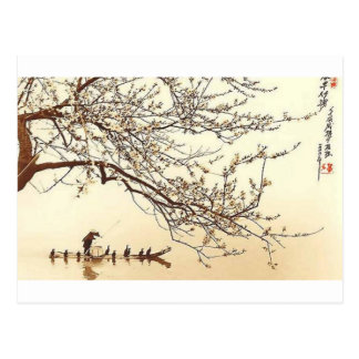 JAPANESE VINTAGE ART POSTCARD