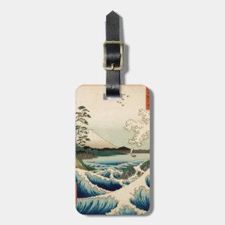 Japanese Vintage Art Sea of Satta Hiroshige Luggage Tag
