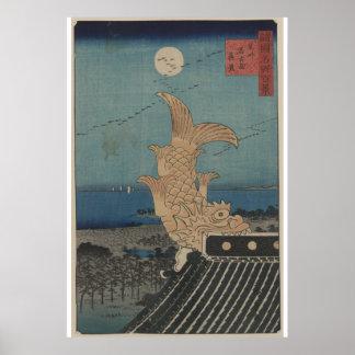 Japanese Vintage Bishu Nagoya Shinke Art Poster