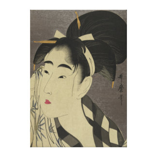 Japanese Vintage Image  - pre 1900s  canvas Gallery Wrapped Canvas