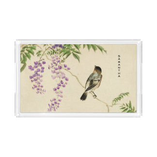 Japanese Vintage Lilac Sparrow Tray