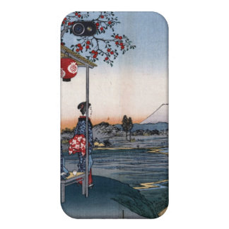 Japanese Vintage Mt Fuji Art Print Speck Case iPhone 4 Covers