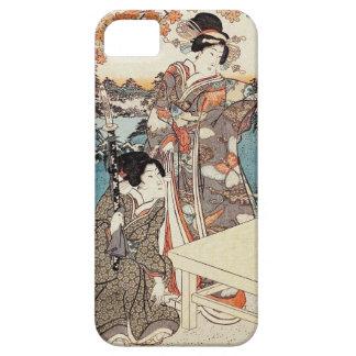 Japanese vintage ukiyo-e geisha old scroll case for the iPhone 5