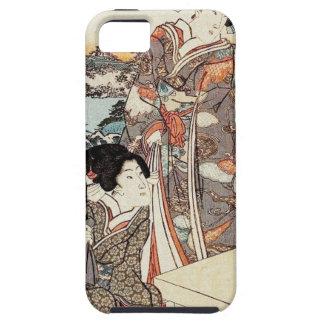 Japanese vintage ukiyo-e geisha old scroll iPhone 5 cover