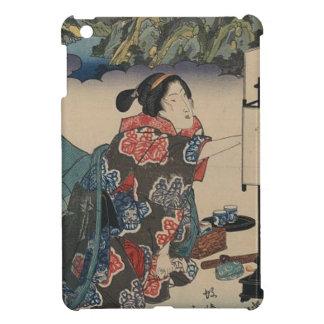 Japanese Vintage Ukiyo-e Lady Mountain Scene Case For The iPad Mini