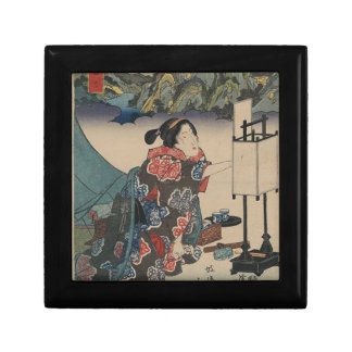 Japanese Vintage Ukiyo-e Lady Mountain Scene Gift Box