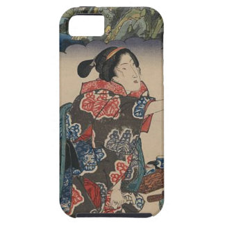 Japanese Vintage Ukiyo-e Lady Mountain Scene Tough iPhone 5 Case