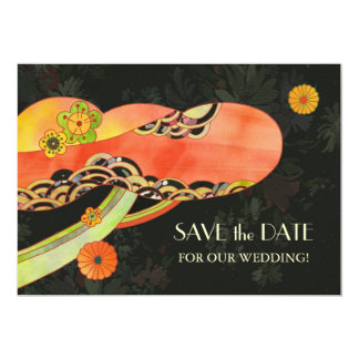 Japanese Washi Wedding Save the Date Invitations