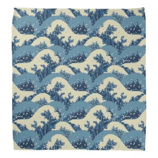 Japanese wave pattern bandana