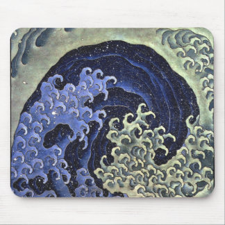Japanese Waves Mouse Pad