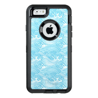 Japanese Waves Pattern in Ocean Colors OtterBox iPhone 6/6s Case