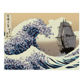 JAPANESE WAVES POST CARD
