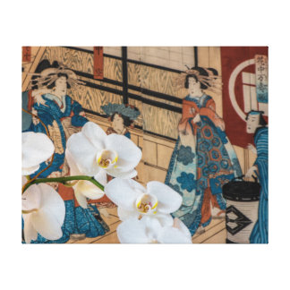 Japanese White Orchids Canvas Print