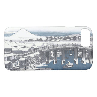 Japanese Winter Painting of Nihon bridge, Tokyo iPhone 8/7 Case