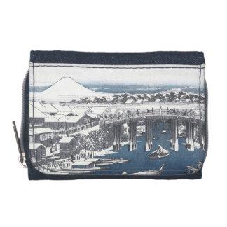 Japanese Winter Painting of Nihon bridge, Tokyo Wallets