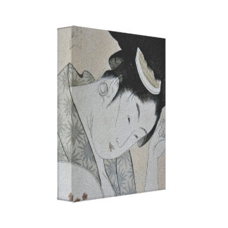 Japanese Woman Gallery Wrap Canvas