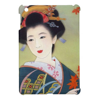 Japanese woman in blue kimono cover for the iPad mini