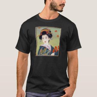 Japanese woman in blue kimono T-Shirt