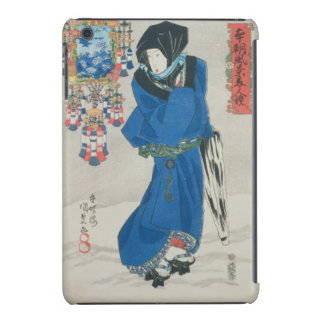 Japanese Woman in the Snow (colour woodblock print iPad Mini Cases