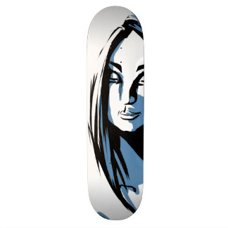 Japanese woman with winter kanji skateboard deck