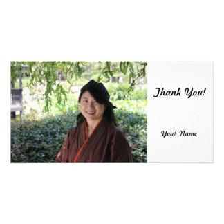 Japanese Women Customised Photo Card