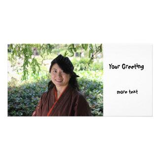 Japanese Women Personalized Photo Card
