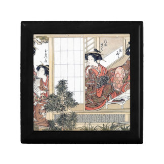 Japanese Women Small Square Gift Box