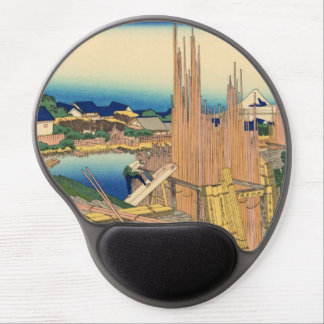 Japanese Woodblock: Honjo Tatekawa Timberyard Gel Mouse Pad