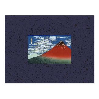 JAPANESE WOODBLOCK OF MOUNTAIN NOTECARD POSTCARD