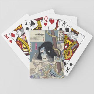 Japanese Woodblock Print by Kunichika Poker Deck
