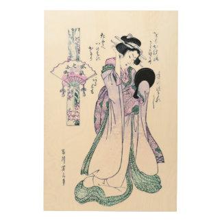 Japanese Woodblock Print of Kiyomizu komachi