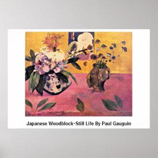 Japanese Woodblock-Still Life By Paul Gauguin Print