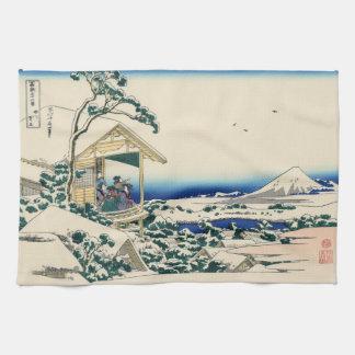 Japanese Woodblock: Tea House at Koishikawa Tea Towel