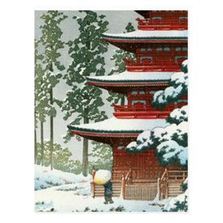 Japanese Woodlock Post Cards