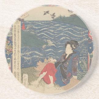 Japanese Woodprint Coaster