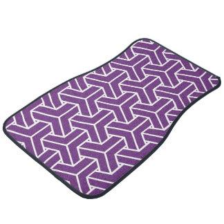 Japanese Yukata Jinbei Bishamon Ayame in purple Car Mat