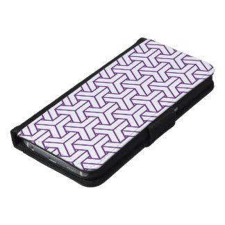 Japanese Yukata Jinbei Bishamon Ayame on white Samsung Galaxy S6 Wallet Case