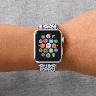 Japanese Yukata Jinbei Bishamon Navy pattern Apple Watch Band