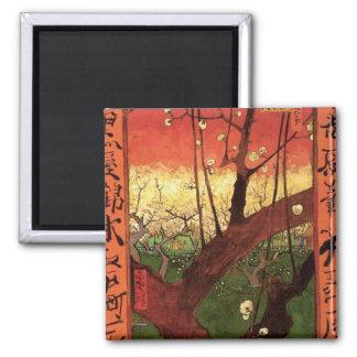 Japonaiserie Plum Tree Hiroshige -Vincent van Gogh Magnet