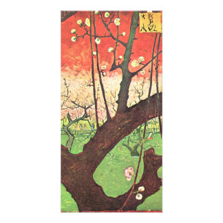 Japonese tree (after Hiroshige) by van Gogh Photo Greeting Card