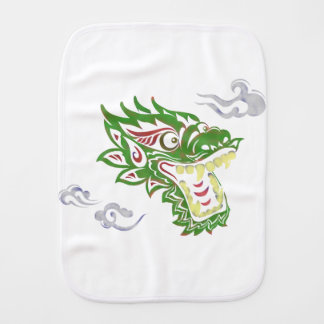 Japonias dragon burp cloth
