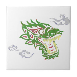 Japonias dragon ceramic tile