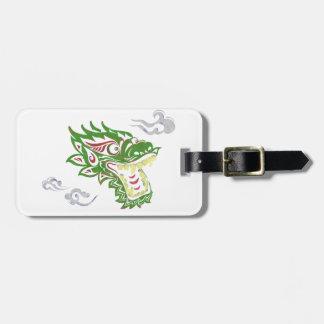Japonias dragon luggage tag